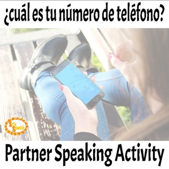 Phone Number in Spanish Partner Blind Speaking Activity