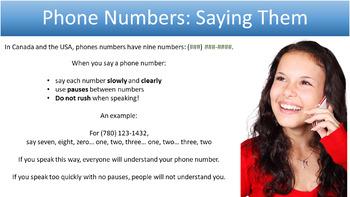 Phone Numbers: A Listening Mini-Unit for ESL, LINC, and PBLA Classes