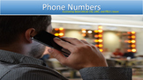 Phone Numbers: A Listening Mini-Unit for ESL, LINC, and PB