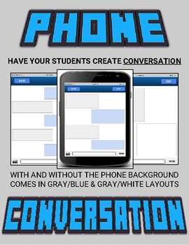 Phone Texting: Students Create Text Conversations