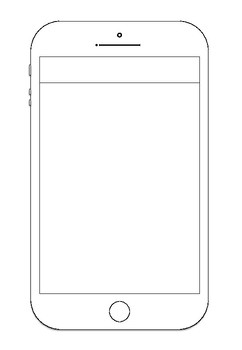 Phone Wireframe Template (Drawing, Planning, Craft)