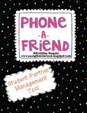 Phone a Friend {Student Partnering Management Tool} FREEBIE