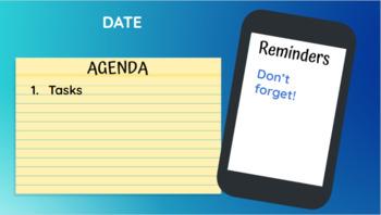 Phone and Notepad Agenda Slide