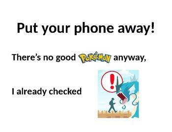 Phone away signs