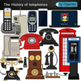 Phone clip art-The history of telephones clipart