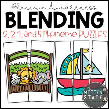 Phoneme Blending Activity, Phonemic Awareness Puzzles
