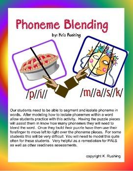 Phoneme Blending Puzzles