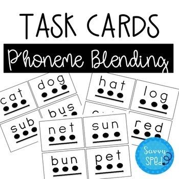 Phoneme Blending Task Cards #spedtreats1