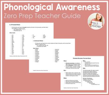 Phoneme Blending Teacher Guide by Keep It Simple Kinder | TpT