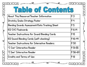 Blending Sounds CVC - Guided Reading RTI