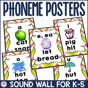 Phoneme Cards: Multicolored Chevron