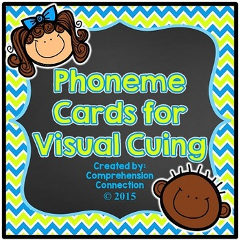 Phoneme Cards: Neon Chevron and Chalkboard