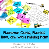 Phoneme Cards, Phonics Tiles, and Word Building Mats