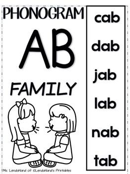 Phoneme Cards for Rimes -AB -EB -IB -OB -UB by Ms. LendaHand
