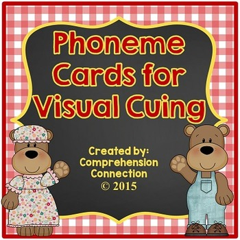 Phoneme Cards: Red Gingham