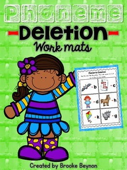 Phoneme Deletion Work Mats