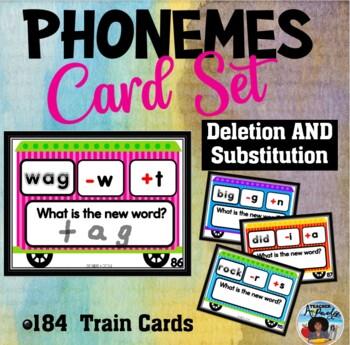 Phoneme Deletion/Substitution Train Cards Set