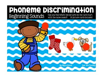 Phoneme Discrimination Beginning Sound Cards
