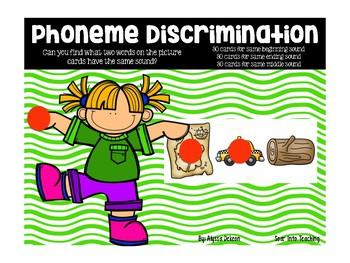 Phoneme Discrimination Sound Cards