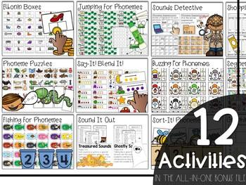 Phoneme Fun Bundle (Segmenting, Blending, & Manipulating Phonemes Activities)
