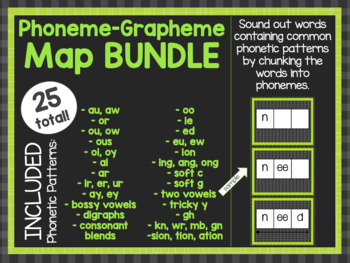 Phoneme-Grapheme Map BUNDLE