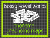 Phoneme-Grapheme Map: bossy vowel words