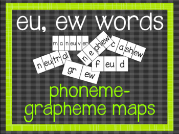 Phoneme-Grapheme Map: eu, ew words
