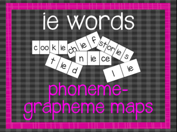 Phoneme-Grapheme Map: ie words