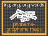 Phoneme-Grapheme Map: ing, ang, ong words