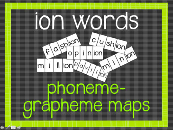 Phoneme-Grapheme Map: ion words