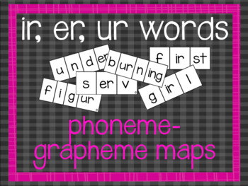 Phoneme-Grapheme Map: ir, er, ur words