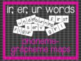 Phoneme-Grapheme Map: ir, er, ur words