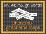 Phoneme-Grapheme Map: kn, wr, mb, gn