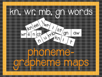Phoneme-Grapheme Map: kn, wr, mb, gn