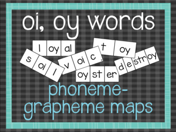 Phoneme-Grapheme Map: oi, oy words