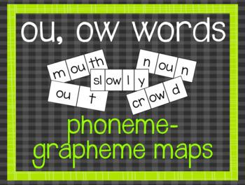 Phoneme-Grapheme Map: ou, ow words