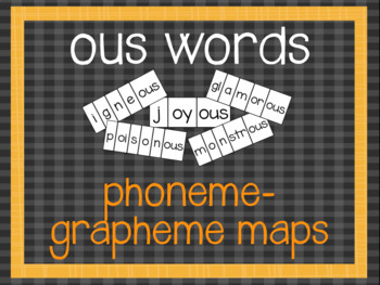 Phoneme-Grapheme Map: ous words