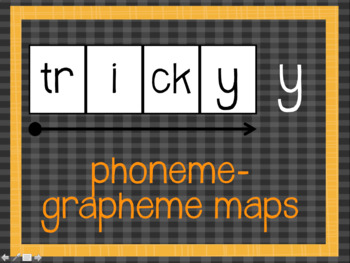 Phoneme Grapheme Map: tricky y words