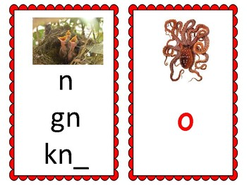 Phoneme/Grapheme Sound Spelling Cards (Red)