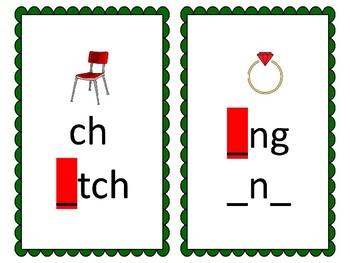 Phoneme/Grapheme Sound Spelling Cards (Dark Green)