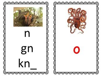 Phoneme/Grapheme Sound Spelling Cards (Gray)