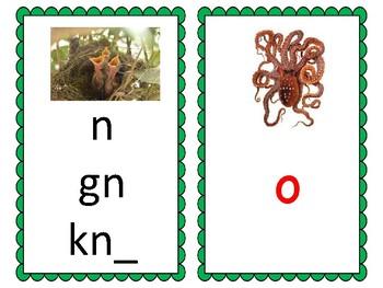 Phoneme/Grapheme Sound Spelling Cards (Green)