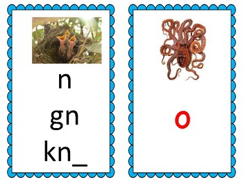 Phoneme/Grapheme Sound Spelling Cards (Light Blue)