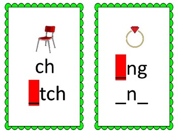 Phoneme/Grapheme Sound Spelling Cards (Lime Green)