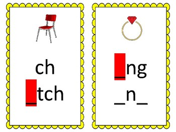 Phoneme/Grapheme Sound Spelling Cards (Yellow)
