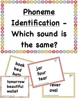 Phoneme Identification Phonological Awareness