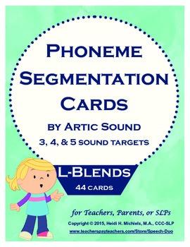 Phoneme Segmentation Activity: L-blends Artic Target