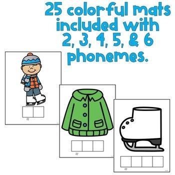 Phoneme Segmentation Activity Mats: Winter (phonemic awareness)
