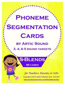 Phoneme Segmentation Activity: S-blends Artic Target