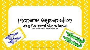 Phoneme Segmentation Animal Mania (way more FUN elkonin boxes!)
